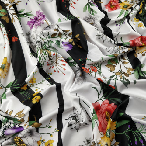 FS281 Large Stripe Floral | Fabric Styles