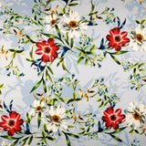 FS287 Blue Blossom Cosmos Floral | Fabric Styles