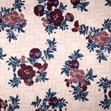 FS289 Pink Impatiens Floral | Fabric Styles