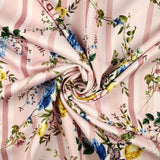 FS290 Pink Striped Floral | Fabric Styles