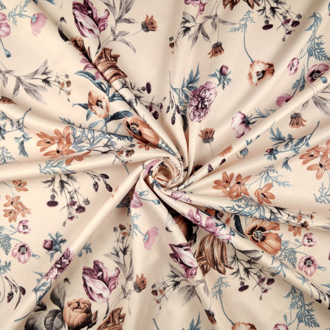 FS101_7 Nude Base Floral Print | Fabric Styles
