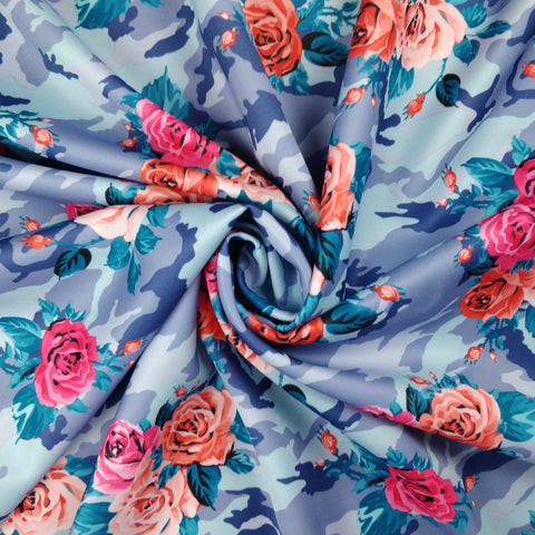 FS028_5 Blue Camouflage Floral