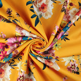 FS291_1 Orange Floral | Fabric Styles
