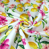 FS295_1 Lemon Floral | Fabric Styles