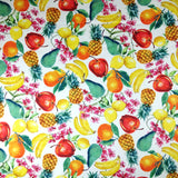 FS296 Lemon Pineapple Banana Floral | Fabric Styles
