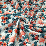 FS265 Chevron Flamingo | Fabric Styles