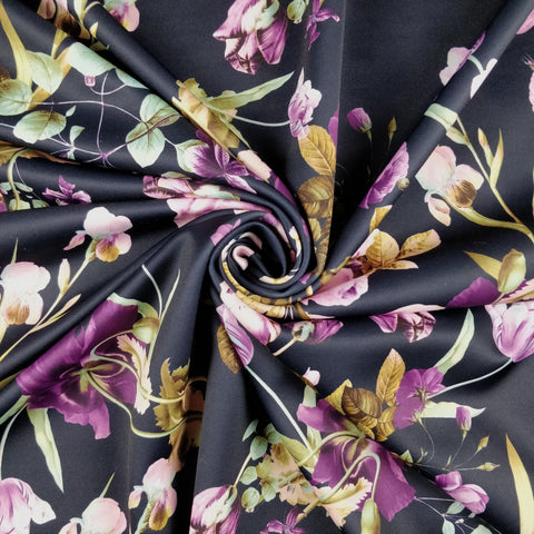 FS334 Purple Floral | Fabric Styles