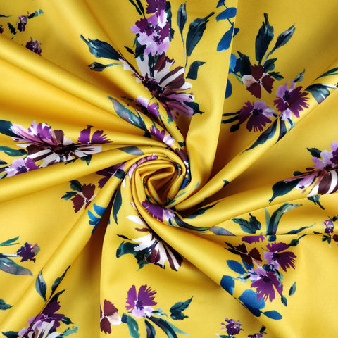 FS299 Mustard Floral | Fabric Styles