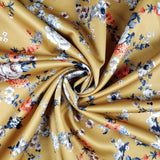 FS333 Mustard Floral - Fabric Styles