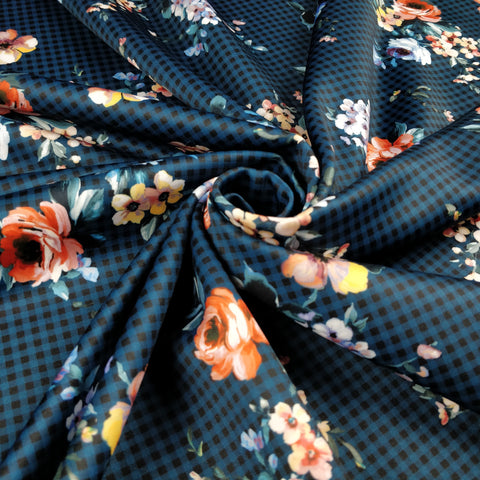 FS335 Gingham Floral - Fabric Styles