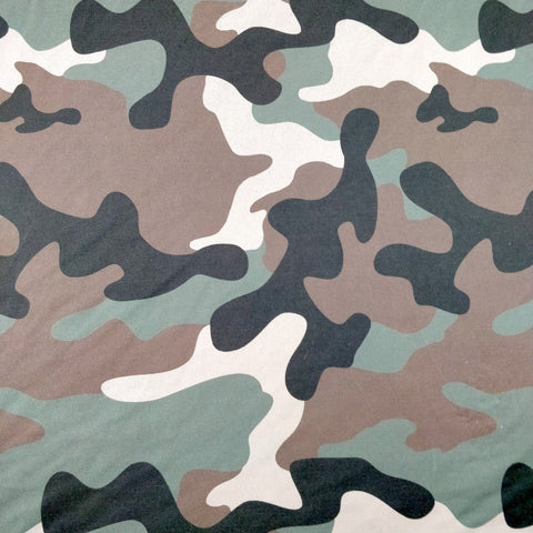 FS337 Green Camouflage - Fabric Styles