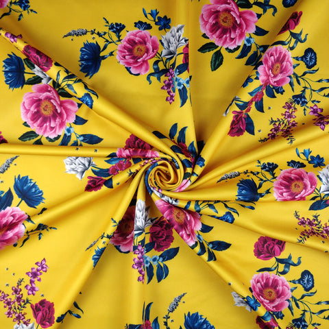 FS298 Mustard Floral | Fabric Styles