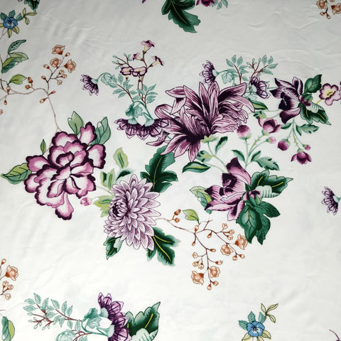 FS339 Purple Floral - Fabric Styles