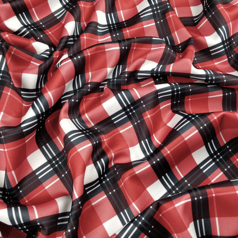 FS341_2 Red Tartan - Fabric Styles
