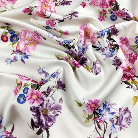 FS120_2 Nude Base Floral Print | Fabric Styles