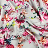 FS095_1 Grey Floral Bouquet | Fabric Styles