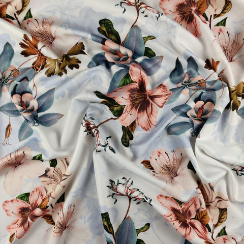 FS378 Blush Lisianthus Floral | Fabric Styles