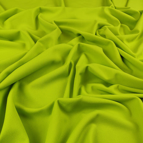 FS134_11 Lime Scuba Crepe | Fabric Styles