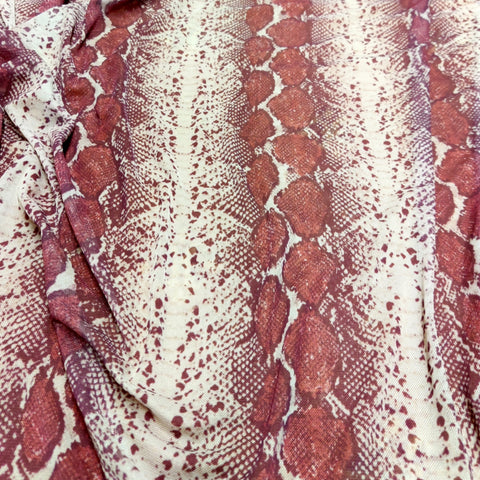 Wine Zebra Powermesh | Fabric Styles