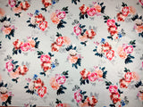 FS358_1 Rose Grey Floral | Fabric Styles