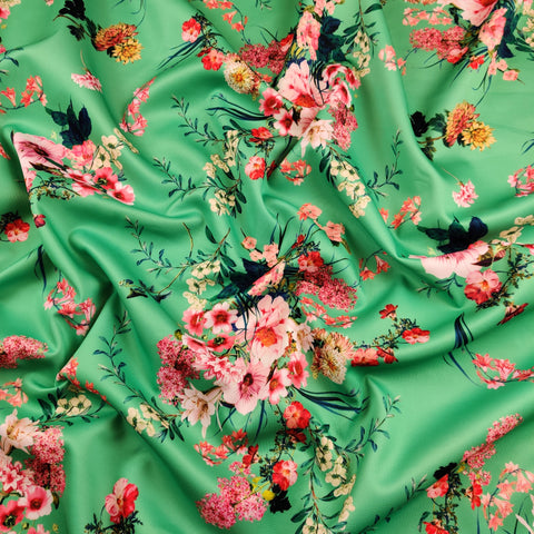 FS448 Green Floral | Fabric Styles