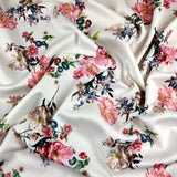 FS120_3 White Base Floral Print | Fabric Styles