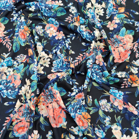 FS065 Flower Print Scuba Fabric
