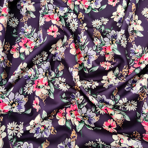 FS552 Purple Floral