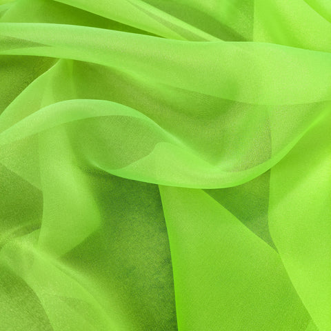 FS592_3 Florescent Yellow Crystal Organza