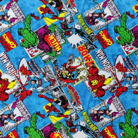 FS641_2 Marvel Comics Burst Blue
