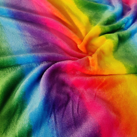 FS777 Rainbow Stripe Cuddle Fleece