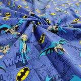 FS636_4 Batman Comics Blue Cotton