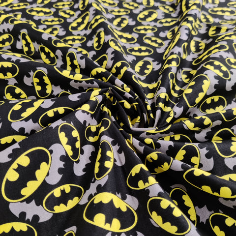 FS636_6 Batman Logo Comics Cotton