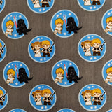 FS598_5 Star Wars Kawaii Duo Token Cotton