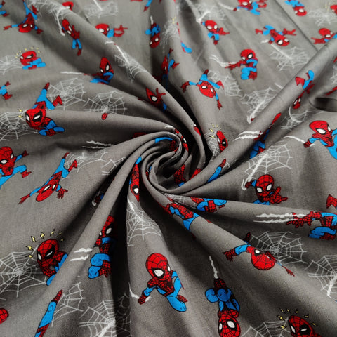 FS756_2 Spider-Man Mini Grey Cotton