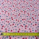 FS854_3 Pink Small Floral Cotton Poplin