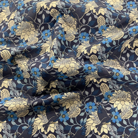 FS865 Blue Floral Cotton