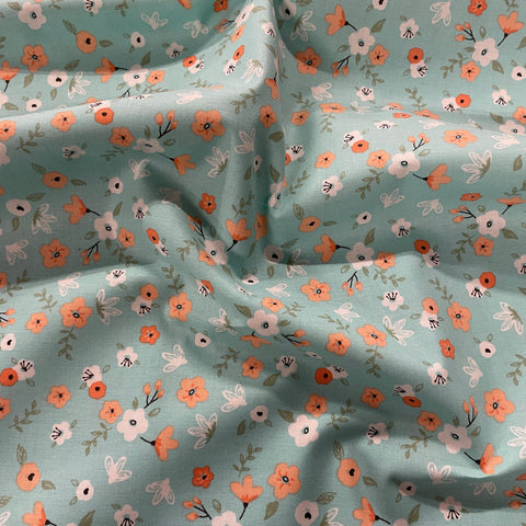 FS869 Aiyanna Daisy Blue Cotton