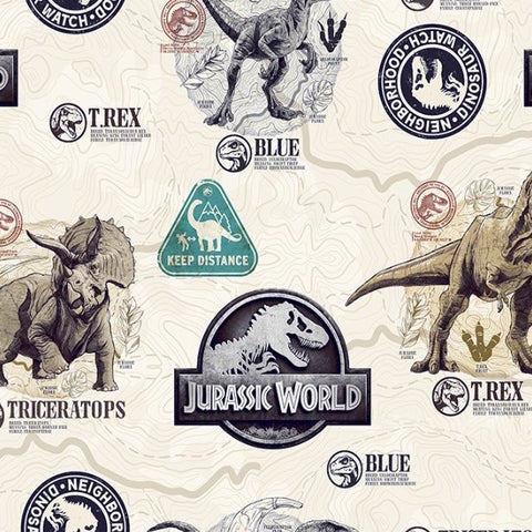 FS896_1 Jurassic World Badge Cotton
