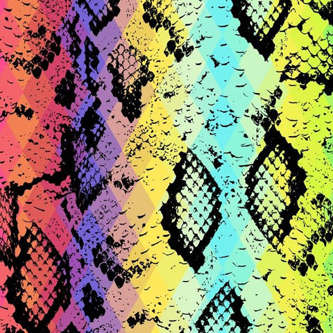 FS926 Rainbow Snake Skin Cotton