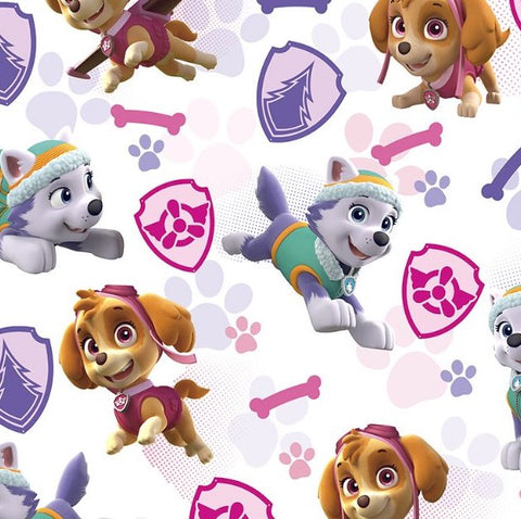 FS894_4 Paw Patrol Girls Badges Cotton
