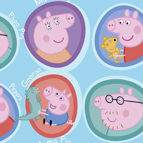 FS891_1 Peppa Pig Family Cotton