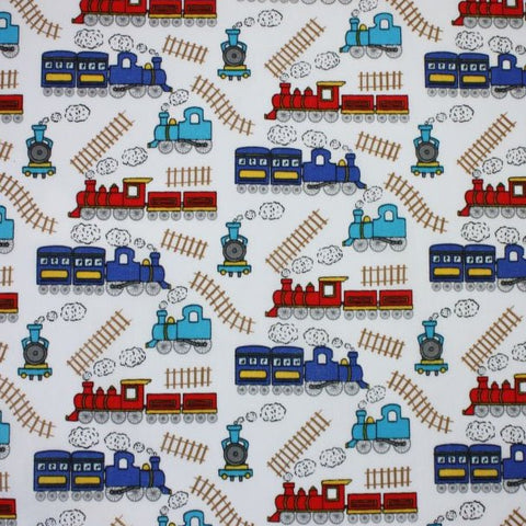 FS771_2 Sally Polycotton Train Track