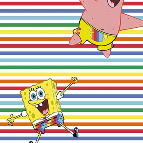 FS889_1 Sponge Bob Rainbow Stripe Cotton
