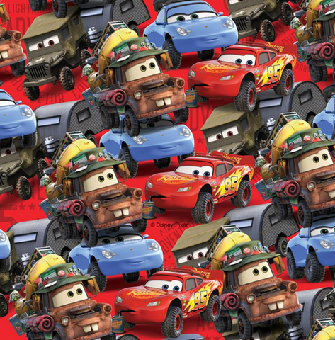 FS762_2 Disney Cars Cotton