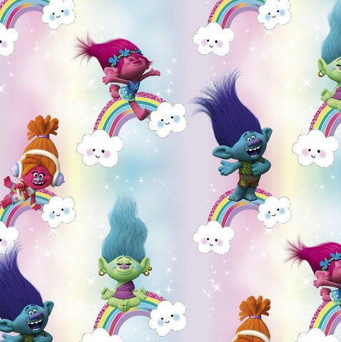 FS888_1 Trolls Pop Rainbow Cotton