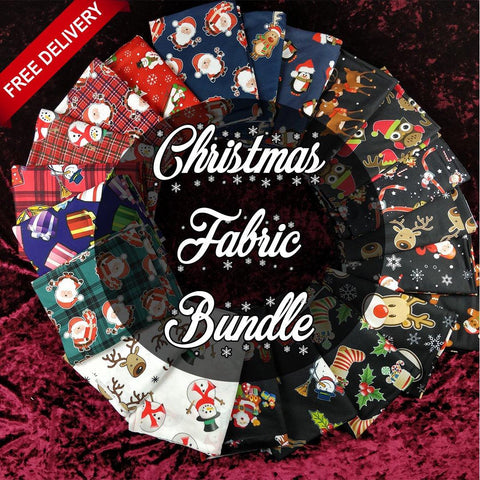 *FREE UK DELIVERY* Assorted Xmas Fabric Bundle | Fabric Styles