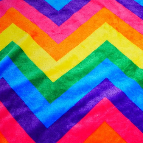 FS924 Rainbow Zigzag Cuddle Fleece