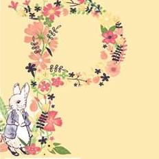 FS689_2 Peter Rabbit Floral Letter