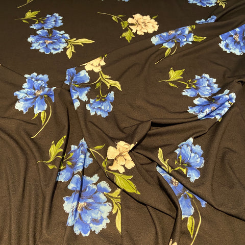 FS502 Black Floral | Fabric Styles